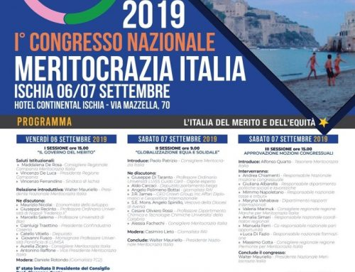 MERITOCRAZIA ITALIA, AD ISCHIA IL PRIMO CONGRESSO NAZIONALE ANCHE ASSINGISCHIA TRA I PARTECIPANTI